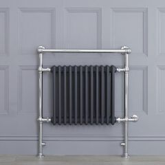 """Marquis Electric  - Anthracite Traditional Heated Towel Warmer with Shelf - 36.75"""" x 31.25"""""""
