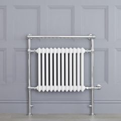 """Marquis Electric  - White Traditional Heated Towel Warmer with Shelf - 36.75"""" x 31.25"""""""