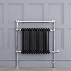 "Marquis Electric  - Black Traditional Heated Towel Warmer - 36.75"" x 31.25"""