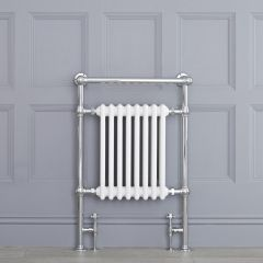 """Marquis - Traditional Hydronic Heated Towel Warmer with Shelf - 36.75"""" x 24.5"""""""