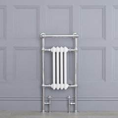"Marquis - Traditional Hydronic Heated Towel Warmer with Shelf - 36.75"" x 17.75"""