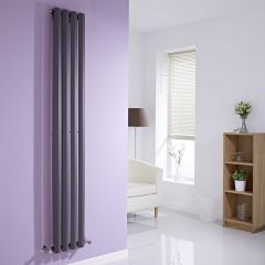 "Edifice - Anthracite Vertical Single-Panel Designer Radiator - 70"" x 11"""