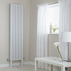 "Revive Plus - White Vertical Double-Panel Designer Radiator - 78.75"" x 18.5"""