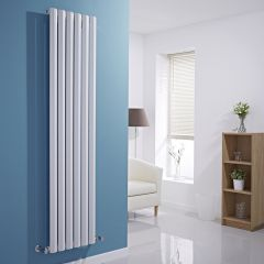 "Edifice - White Vertical Single-Panel Designer Radiator - 70"" x 16.5"""