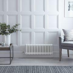 "Regent Electric -  White Horizontal 3-Column Traditional Cast-Iron Style Radiator - 11.75"" x 31"""