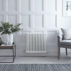 "Regent Electric -  White Horizontal 3-Column Traditional Cast-Iron Style Radiator - 23.625"" x 23.875"""