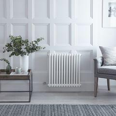 "Regent Electric -  White Horizontal 2-Column Traditional Cast-Iron Style Radiator - 23.625"" x 23.875"""