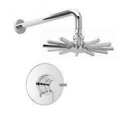 Chrome Finish Thermostatic shower with Cloudburst shower head