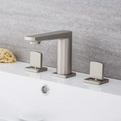 Arcadia - Widespread Brushed Nickel Bathroom Faucet