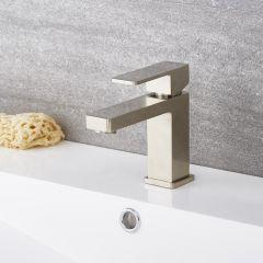 Kubix - Brushed Nickel Single-Hole Bathroom Faucet