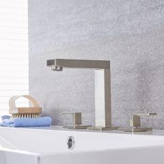 Kubix - Brushed Nickel Widespread Bathroom Faucet