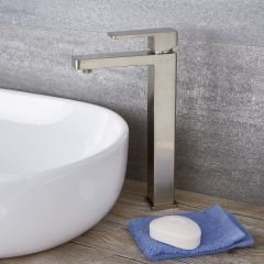 Kubix - Single-Hole Vessel Faucet - Multiple Finishes Available