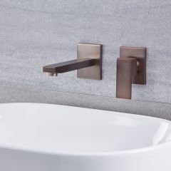 Kubix - Single Hole Wall Mounted Bathroom Faucet - Multiple Finishes Available
