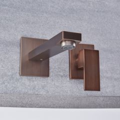 Kubix - Oil-Rubbed Bronze Wall Mounted Bathroom Faucet