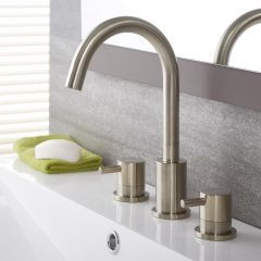 Quest - Brushed Nickel Widespread Bathroom Faucet