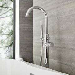 Quest -  Freestanding Tub Faucet with Hand Shower - Multiple Finishes Available