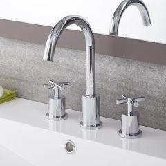 Tec - Chrome Widespread Bathroom Faucet