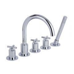 Tec - Chrome Roman Tub Faucet and Hand Shower
