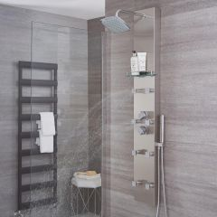 Hurst - Brushed Steel Thermostatic Shower Panel