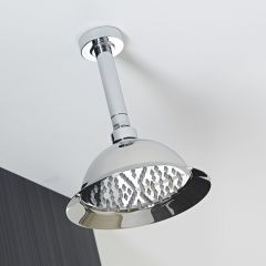"""8"""" Shower Rose with Round Ceiling Arm"""