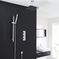 """Valquest Thermostatic Shower System with 8"""" Square Ceiling Head & Handshower"""
