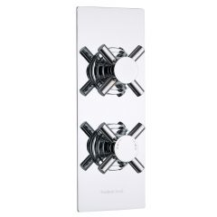 Kristal Concealed 1 Outlet Twin Thermostatic Shower Valve (Slim Plate)