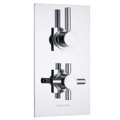 Tec Concealed 2 Outlet Twin with Diverter Thermostatic Shower Valve (Square Flange)