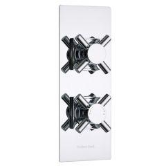 Kristal Concealed 1 Outlet Twin Thermostatic Shower Valve (Slim Trim Plate)