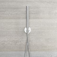 Quest - Round Shower Kit with Integrated Outlet Elbow and Parking Bracket - Chrome