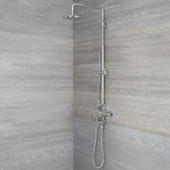 Tec - Chrome Exposed Pipe Shower Column
