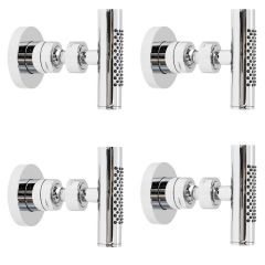 Tec Minimalist Chrome Body Spray Jet Shower Set of 4