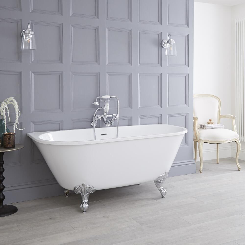 Acrylic Back To Wall Freestanding Bath Tub 60 Quot