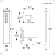 Arcadia Square Chrome Shower Kit with Integrated Outlet Elbow and Parking Bracket