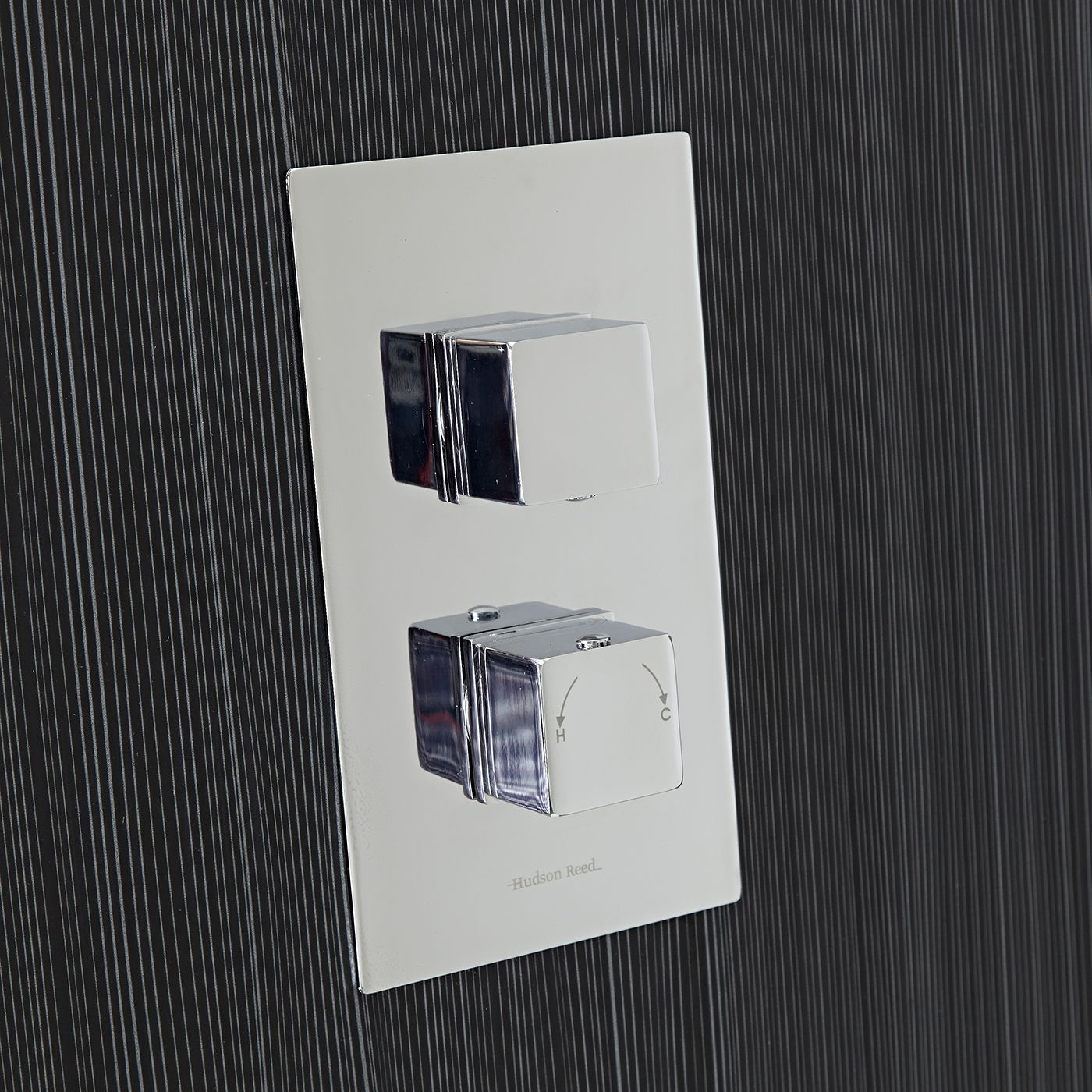 Chrome Concealed Square Thermostatic Shower Faucet Valve