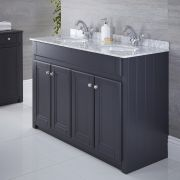 "Charlton - 47"" Anthracite Traditional Bathroom Vanity"