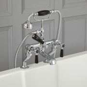 Elizabeth - Traditional Deck Mounted Lever Handle Tub Faucet with Telephone Style Hand Shower - Multiple Finishes Available