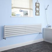 "Sloane - White Horizontal Double Flat-Panel Designer Radiator - 14"" x 63"""