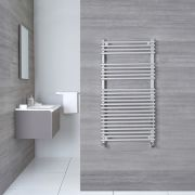 "Ischia - Hydronic Chrome Heated Towel Warmer - 45.25"" x 23.5"""