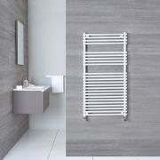 "Ischia - Hydronic White Heated Towel Warmer - 45.25"" x 23.5"""
