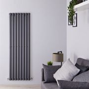 "Edifice - Anthracite Vertical Single-Panel Designer Radiator - 70"" x 22"""