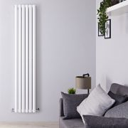 "Revive - White Vertical Double-Panel Designer Radiator - 70.75"" x 14"""