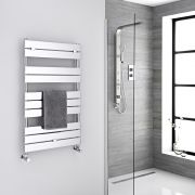 "Lustro  - Hydronic Chrome Heated Towel Warmer - 39.25"" x 23.5"""