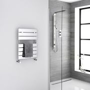 "Lustro  - Hydronic Chrome Heated Towel Warmer - 24.5"" x 18"""