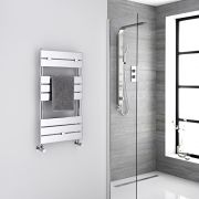 "Lustro  - Hydronic Chrome Heated Towel Warmer - 33"" x 17.75"""