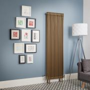 Regent - Metallic Bronze Vertical 3-Column Traditional Cast-Iron Style Radiator - All Sizes