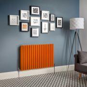 Revive - Orange Horizontal Double-Panel Designer Radiator - All Sizes