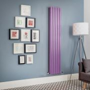Revive - Purple Vertical Double-Panel Designer Radiator - All Sizes