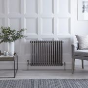 Regent - Raw Metal Lacquered Horizontal 3-Column Traditional Cast-Iron Style Radiator - 23.5'' x 30.25''