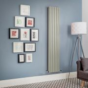 Revive - Sage Green Vertical Double-Panel Designer Radiator - All Sizes