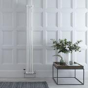 "Regent - White Vertical 2-Column Traditional Cast-Iron Style Radiator - 70.75"" x 8"""